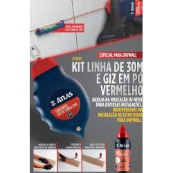 Kit Linha e Giz em Pó vermelho - Atlas