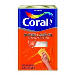 Tinta Super Lavável Eggshell branco semi-fosco 18l - Coral
