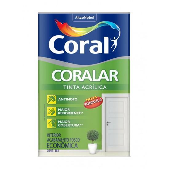 Tinta Acrílica Coralar branca 18l - Coral