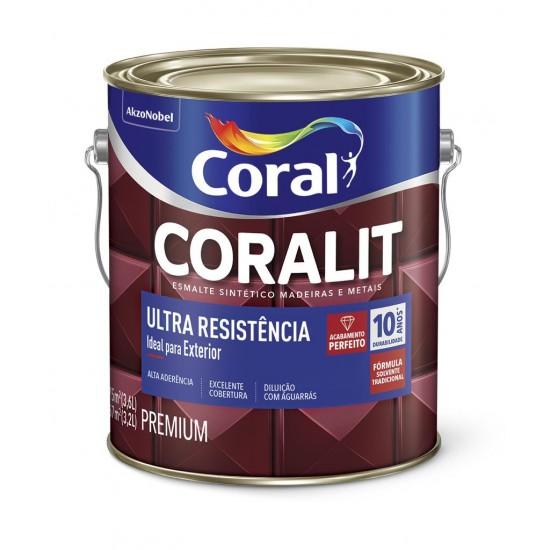 Esmalte sintético Coralit Brilhante branco Ultra Resistência 3,6l - Coral