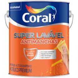 Tinta Super Lavável Eggshell branco acabamento semi-fosco 3,6l - Coral