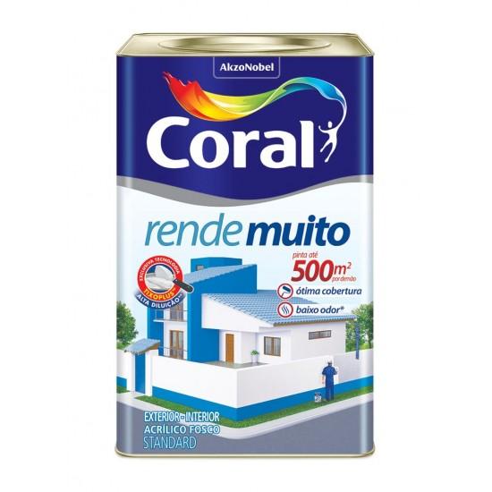 Tinta Rende Muito branco 18l - Coral