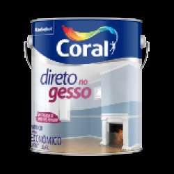 Tinta branca Direto no gesso galão 3,6l - Coral