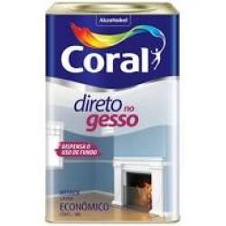 Tinta branca Direto no gesso lata 18l - Coral