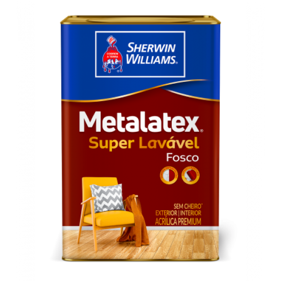 Metalatex Acrílico fosco Premium branco 18l - Sherwin Williams