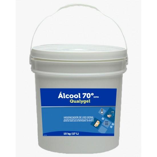 Álcool 70% em gel Proteção antisséptica 15kg - Qualygel